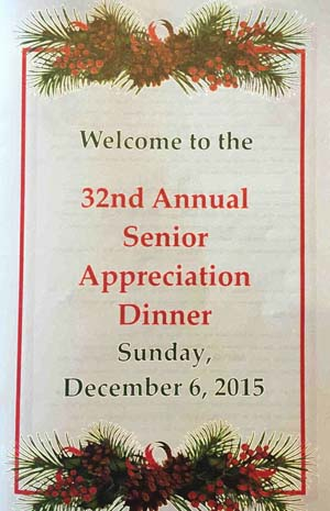 Healdsburg Senior Appreciation Dinner 2015